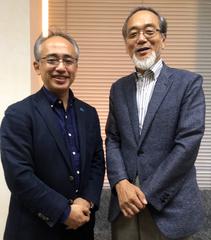 左:日本知育玩具協会 藤田篤理事 右:東京大学名誉教授 汐見稔幸先生